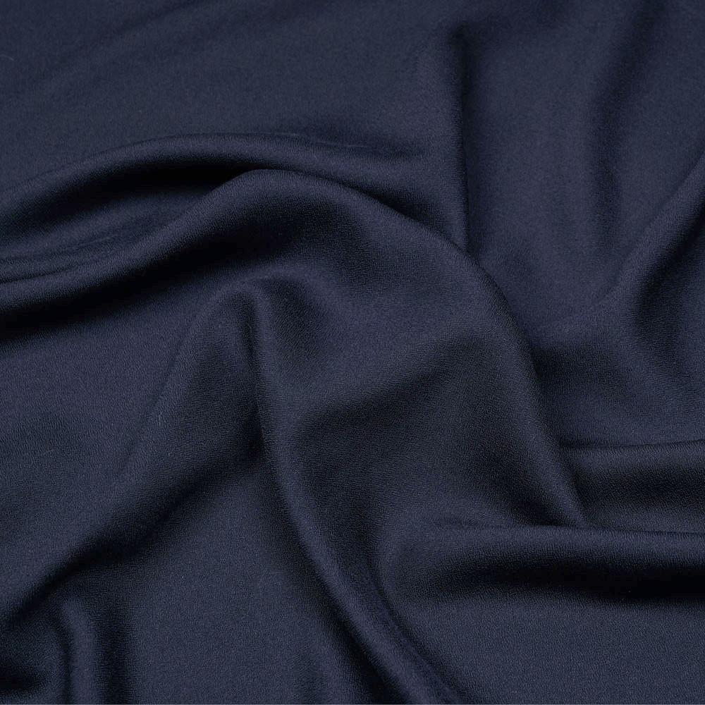 Tissu crêpe proviscose bleu éclipse - pretty mercerie - mercerie en ligne