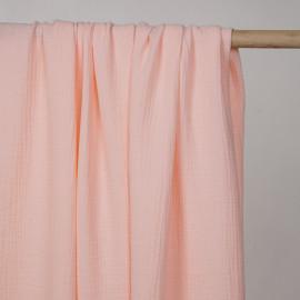 tissu double gaze de coton rose pearl blush  - pretty mercerie - mercerie en ligne