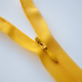 Fermeture éclair invisible non-séparable jaune