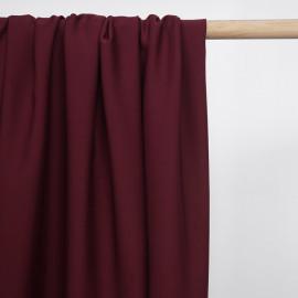Tissu Tencel sergé rouge tibetain - pretty mercerie - mercerie en ligne