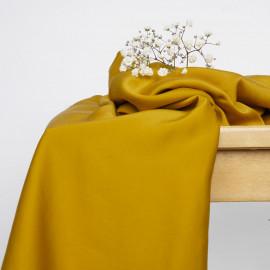 Tissu Tencel lemon curry satiné - pretty mercerie - mercerie en ligne