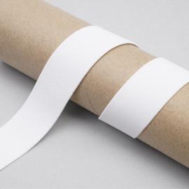 ruban élastique polyester recyclé blanc cassé côtelé | Pretty Mercerie | Mercerie en ligne