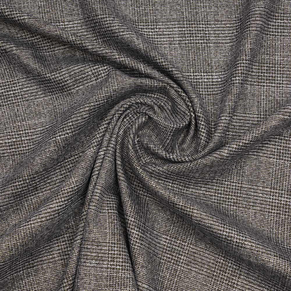 Tissu Prince de Galles noir, gris, blanc et doré | Pretty Mercerie | Mercerie en ligne