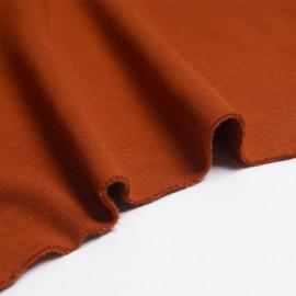 Tissu sweat gratté orange rust   Pretty Mercerie   Mercerie en ligne