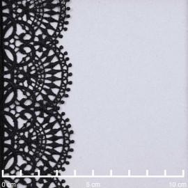 Ruban guipure noir à motif éventail | pretty mercerie | mercerie en ligne