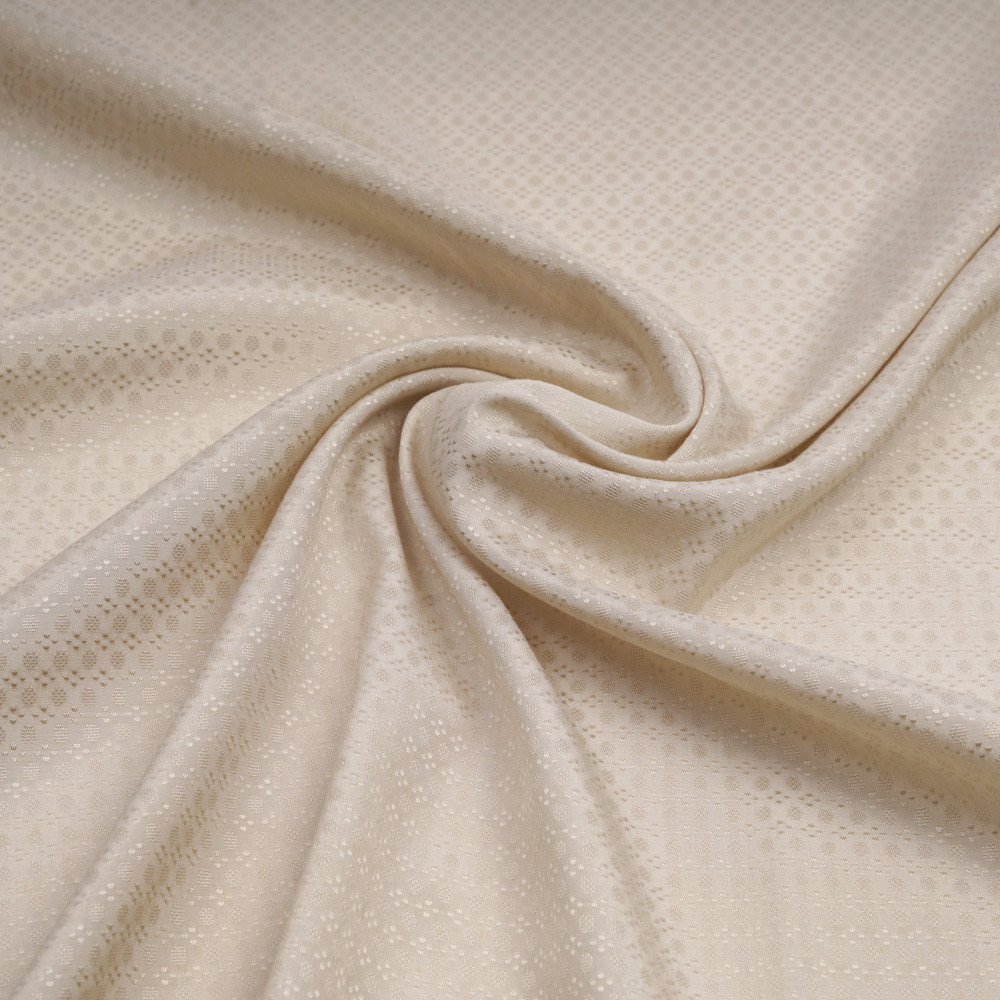 Tissu soie jacquard sandshell à motif tissé graphique | Pretty Mercerie | Mercerie en ligne