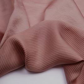 Tissu viscose jacquard rose poudré à motif tissé rayé | Pretty mercerie | mercerie en ligne