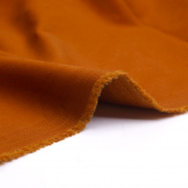 Tissu toile de coton fauve | Pretty Mercerie | mercerie en ligne