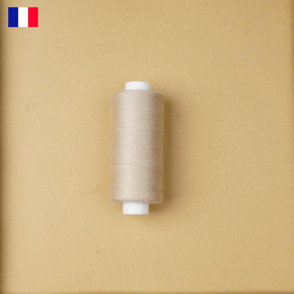 Fil à coudre beige clair haute ténacité 500 m | fabrication française | pretty Mercerie | Mercerie en ligne