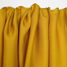 Tissu viscose Tencel et lin golden yellow | Pretty Mercerie | Mercerie en ligne