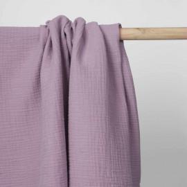 tissu double gaze de coton lavande   pretty mercerie   mercerie en ligne