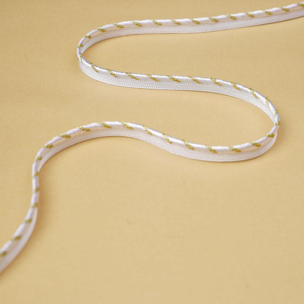 passepoil torsadé blanc et or   Pretty Mercerie   mercerie en ligne
