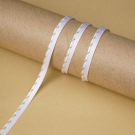 passepoil torsadé blanc et or | Pretty Mercerie | mercerie en ligne
