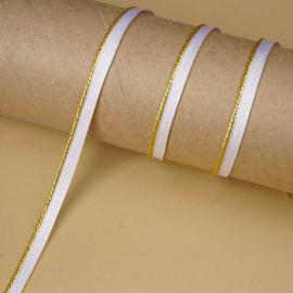 passepoil blanc torsadé doré | Pretty Mercerie | mercerie en ligne