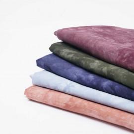 Tissu coton tie and dye bleu ciel et blanc | Pretty Mercerie | Mercerie en ligne