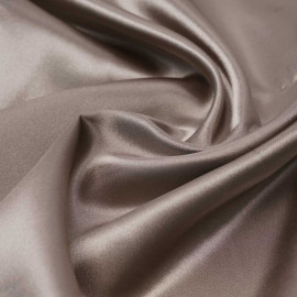 Tissu doublure satin polyester beige | pretty mercerie | mercerie en ligne