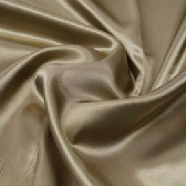Tissu doublure satin polyester antique bronze | pretty mercerie | mercerie en ligne