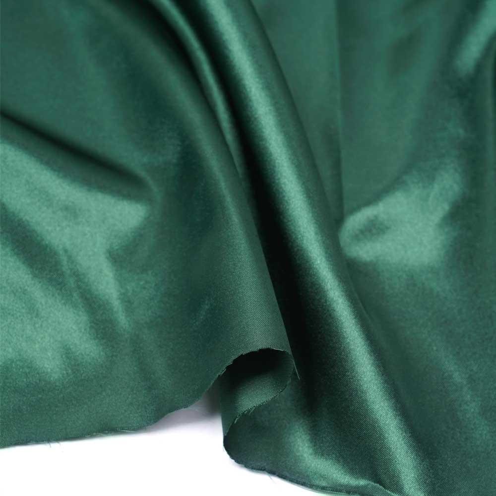 Tissu doublure satin polyester vert evergreen | pretty mercerie | mercerie en ligne