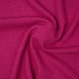 Tissu drap de laine bouillie  fuchsia | pretty mercerie | mercerie en ligne
