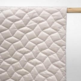 Tissu matelassé velours beige à motif graphique / pretty mercerie / mercerie en ligne