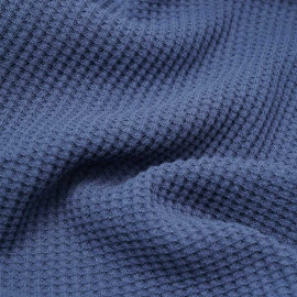 Tissu coton nid d'abeille bleu heaven | Pretty Mercerie | mercerie en ligne