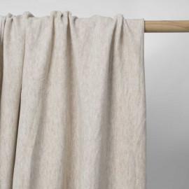 Tissu coton pilou-pilou beige chiné | Pretty Mercerie | mercerie en ligne