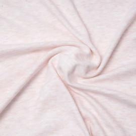 Tissu viscose pilou-pilou rose pastel chiné   Pretty Mercerie   mercerie en ligne