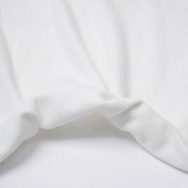Tissu viscose pilou-pilou blanc | Pretty Mercerie | mercerie en ligne