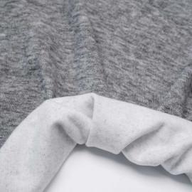 Tissu viscose pilou-pilou gris foncé chiné | Pretty Mercerie | mercerie en ligne