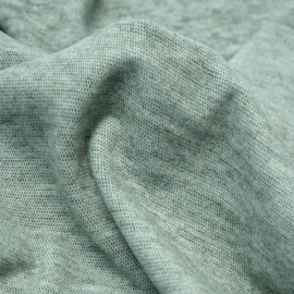 Tissu viscose pilou-pilou vert chiné | Pretty Mercerie | Mercerie en ligne