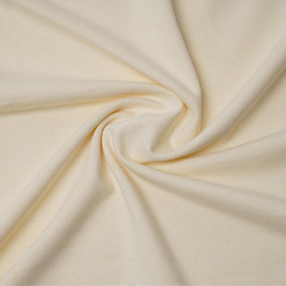 Tissu molleton de chanvre et coton bio écru naturel | pretty mercerie | mercerie en ligne