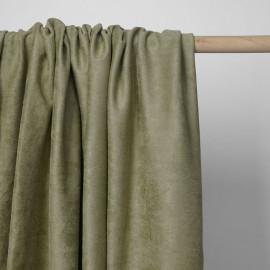 Tissu suédine vert sauge | pretty mercerie | mercerie en ligne
