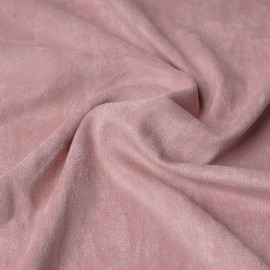 Tissu suédine rose blush   pretty mercerie   mercerie en ligne