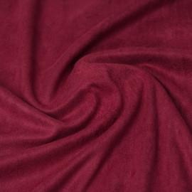 Tissu suédine  bordeaux | pretty mercerie | mercerie en ligne