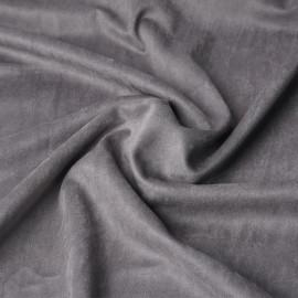 Tissu suédine gris gull | Pretty Mercerie | mercerie en ligne
