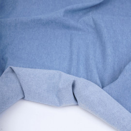 Tissu coton chambray lourd bleu clair   Pretty Mercerie   mercerie en ligne