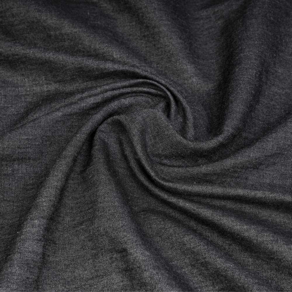 Tissu coton chambray noir chiné | Pretty Mercerie | mercerie en ligne