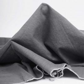 Tissu coton chambray gris clair chiné | Pretty Mercerie | mercerie en ligne