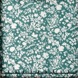 Tissu viscose ivy à motif fleur des champs blanc cassé | Pretty Mercerie | mercerie en ligne