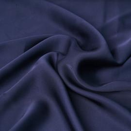 Tissu satin viscose uni bleu marine   pretty Mercerie   mercerie en ligne