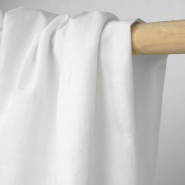 Tissu coton blanc à motif tissé petit coeur ton sur ton   pretty mercerie   mercerie en ligne
