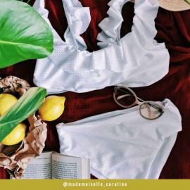 tissu maillot de bain chevron blanc   Pretty mercerie   mercerie en ligne   pretty mercerie