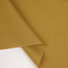 Tissu popeline de coton ocre | pretty mercerie | mercerie en ligne