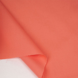 Tissu popeline de coton living coral | pretty mercerie | mercerie en ligne