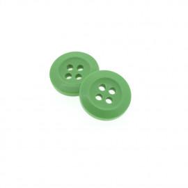 Bouton Polyester Vert Tilleul 15mm