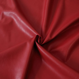 TISSU SIMILI CUIR ROUGE x 10 CM  - pretty mercerie - tissus couture - mercerie pas cher