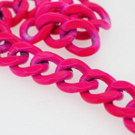 chaine métal rose fluo | pretty mercerie | mercerie en ligne