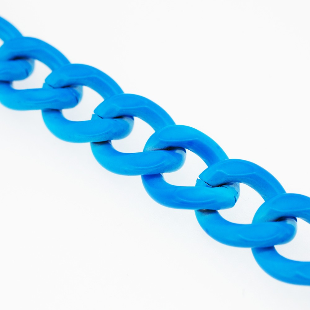 chaine métal bleu fluo | pretty mercerie | mercerie en ligne