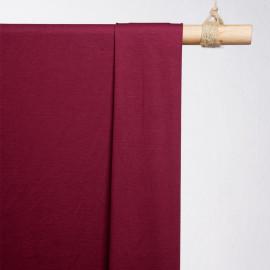 achat tissu jersey bambou sangria - pretty mercerie - mercerie en ligne