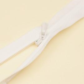 Fermeture éclair invisible non-séparable blanche 25 cm
